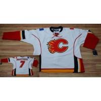 Flames #7 Todd Bertuzzi Stitched White NHL Jersey