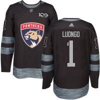 Florida Panthers #1 Roberto Luongo Black 1917-2017 100th Anniversary Stitched NHL Jersey