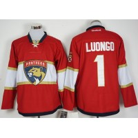Florida Panthers #1 Roberto Luongo Red New Stitched NHL Jersey