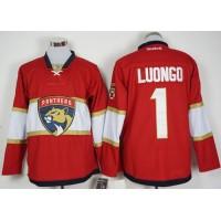 Florida Panthers #1 Roberto Luongo Red New Stitched NHL Jersey