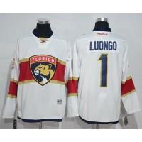 Florida Panthers #1 Roberto Luongo White Road Stitched NHL Jersey