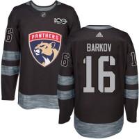 Florida Panthers #16 Aleksander Barkov Black 1917-2017 100th Anniversary Stitched NHL Jersey