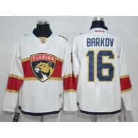 Florida Panthers #16 Aleksander Barkov White Road Stitched NHL Jersey