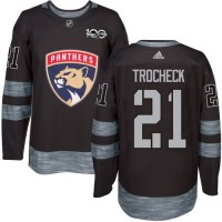 Florida Panthers #21 Vincent Trocheck Black 1917-2017 100th Anniversary Stitched NHL Jersey