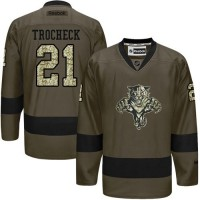 Florida Panthers #21 Vincent Trocheck Green Salute to Service Stitched NHL Jersey