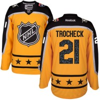 Florida Panthers #21 Vincent Trocheck Yellow 2017 All-Star Atlantic Division Stitched NHL Jersey