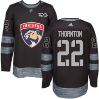 Florida Panthers #22 Shawn Thornton Black 1917-2017 100th Anniversary Stitched NHL Jersey