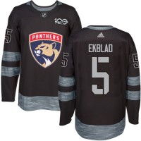 Florida Panthers #5 Aaron Ekblad Black 1917-2017 100th Anniversary Stitched NHL Jersey