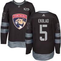 Florida Panthers #5 Aaron Ekblad Black 1917-2017 100th Anniversary Stitched NHL Jersey