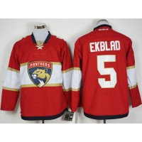 Florida Panthers #5 Aaron Ekblad Red New Stitched NHL Jersey