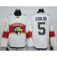 Florida Panthers #5 Aaron Ekblad White Road Stitched NHL Jersey