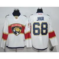 Florida Panthers #68 Jaromir Jagr White Road Stitched NHL Jersey