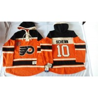 Flyers #10 Brayden Schenn Orange Sawyer Hooded Sweatshirt Stitched NHL Jersey
