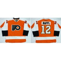 Flyers #12 Michael Raffl Orange Home Stitched NHL Jersey