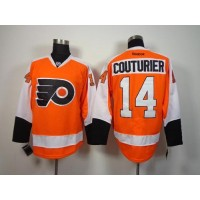 Flyers #14 Sean Couturier Orange Stitched NHL Jersey