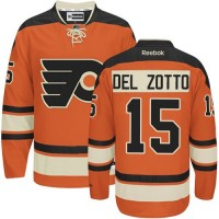Flyers #15 Michael Del Zotto Orange Alternate Stitched NHL Jersey