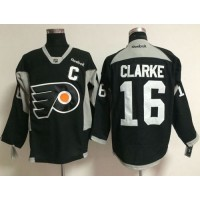 Flyers #16 Bobby Clarke Black Practice Stitched NHL Jersey