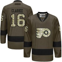 Flyers #16 Bobby Clarke Green Salute to Service Stitched NHL Jersey