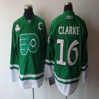 Flyers #16 Bobby Clarke Green St. Patty's Day Stitched NHL Jersey