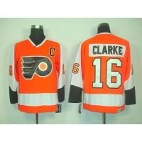 Flyers #16 Clarke Orange CCM Throwback Stitched NHL Jersey