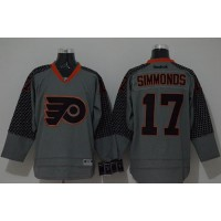 Flyers #17 Wayne Simmonds Charcoal Cross Check Fashion Stitched NHL Jersey