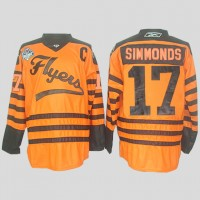 Flyers #17 Wayne Simmonds Orange 2012 Winter Classic Stitched NHL Jersey