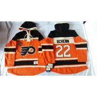 Flyers #22 Luke Schenn Orange Sawyer Hooded Sweatshirt Stitched NHL Jersey