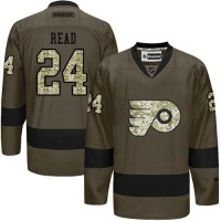 Flyers #24 Matt Read Green Salute to Service Stitched NHL Jersey