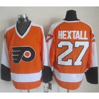 Flyers #27 Ron Hextall OrangeWhite CCM Throwback Stitched NHL Jersey