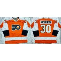 Flyers #30 Michal Neuvirth Orange Home Stitched NHL Jersey