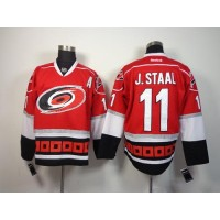 Hurricanes #11 Jordan Staal Red Home Stitched NHL Jersey