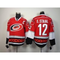 Hurricanes #12 Eric Staal Red Stitched NHL Jersey