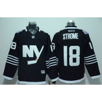 Islanders #18 Ryan Strome Black Alternate Stitched NHL Jersey