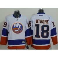 Islanders #18 Ryan Strome White Stitched NHL Jersey