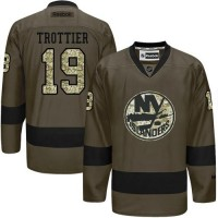 Islanders #19 Bryan Trottier Green Salute to Service Stitched NHL Jersey