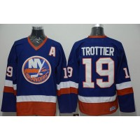 Islanders #19 Bryan Trottier Stitched Baby Blue CCM Throwback NHL Jersey