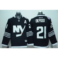 Islanders #21 Kyle Okposo Black Alternate Stitched NHL Jersey