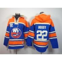 Islanders #22 Mike Bossy Baby Blue Sawyer Hooded Sweatshirt Stitched NHL Jersey