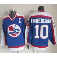 Jets #10 Dale Hawerchuk BlueWhite CCM Throwback Stitched NHL Jersey
