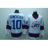 Jets #10 Dale Hawerchuk Stitched White CCM Throwback NHL Jersey
