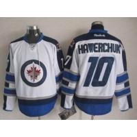 Jets #10 Dale Hawerchuk White Stitched NHL Jersey
