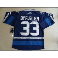 Jets #33 Dustin Byfuglien Dark Blue 2011 Style Stitched Youth NHL Jersey