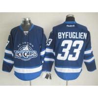 Jets #33 Dustin Byfuglien Dark Blue St. John's IceCaps Stitched NHL Jersey