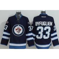 Jets #33 Dustin Byfuglien Stitched Dark Blue 2011 Style NHL Jersey