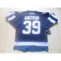 Jets #39 Tobias Enstrom Dark Blue Stitched NHL Jersey