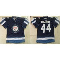 Jets #44 Zach Bogosian Dark Blue Stitched NHL Jersey