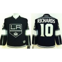 Kings #10 Mike Richards Black Home Stitched Youth NHL Jersey