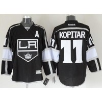 Kings #11 Anze Kopitar Black Home Stitched NHL Jersey