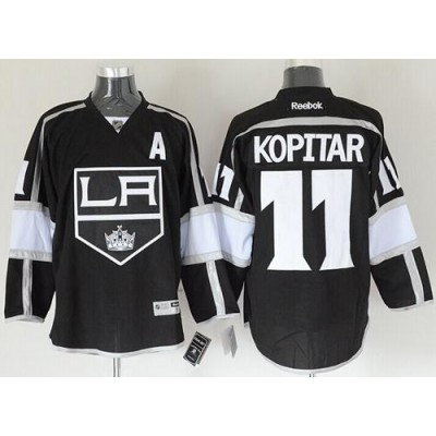 Kings #11 Anze Kopitar Black Home Stitched NHL Jersey