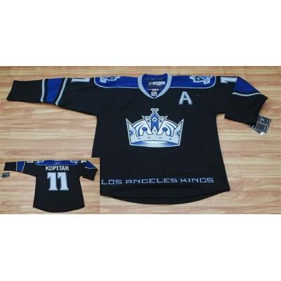 Kings #11 Anze Kopitar Black Third Stitched NHL Jersey